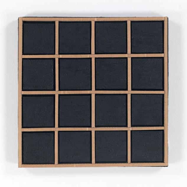 OHNE TITEL, 2020  Acryl auf Pappe 50 x 50 x 6 cm rückseitig signiert und datiert
