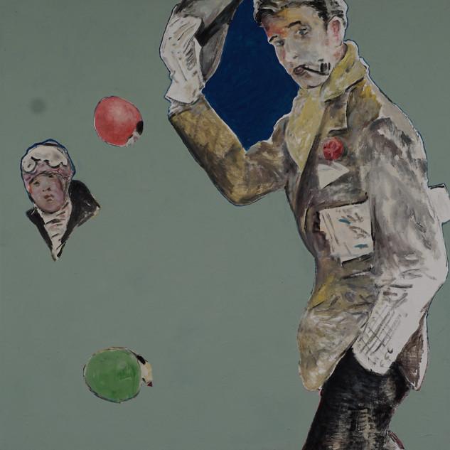 O.T., 2018  Acryl, Pigmente auf Leinwand 130 x 130 cm