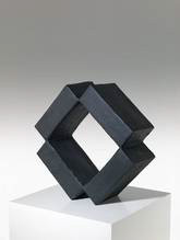 OHNE TITEL, 2020  Acryl auf Pappe  43 x 44 x 18,5 cm