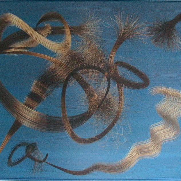 OHNE TITEL, 2008   Harz und Pigment auf Holz 220 x 180 cm Unikat