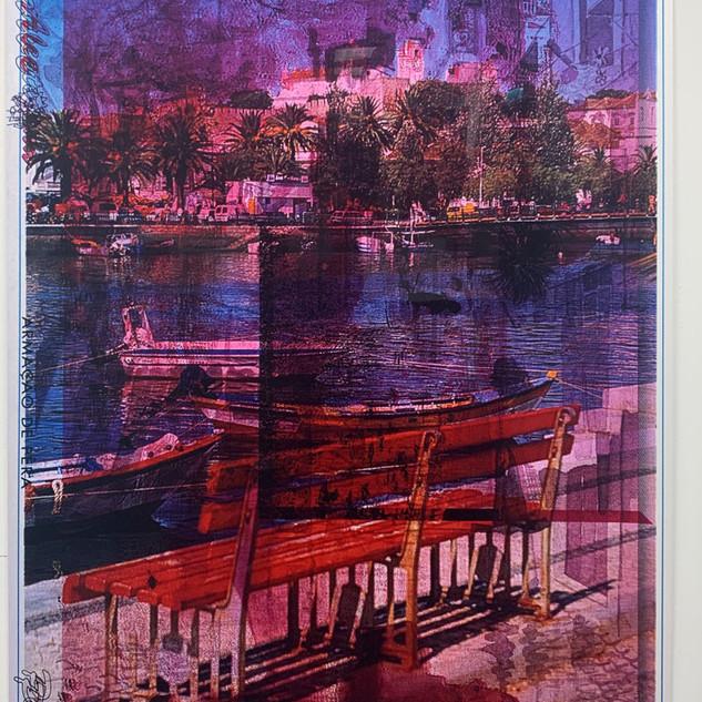 ROTE BANK, 1988/2020  C-Print gerahmt 179,8 x 129 cm