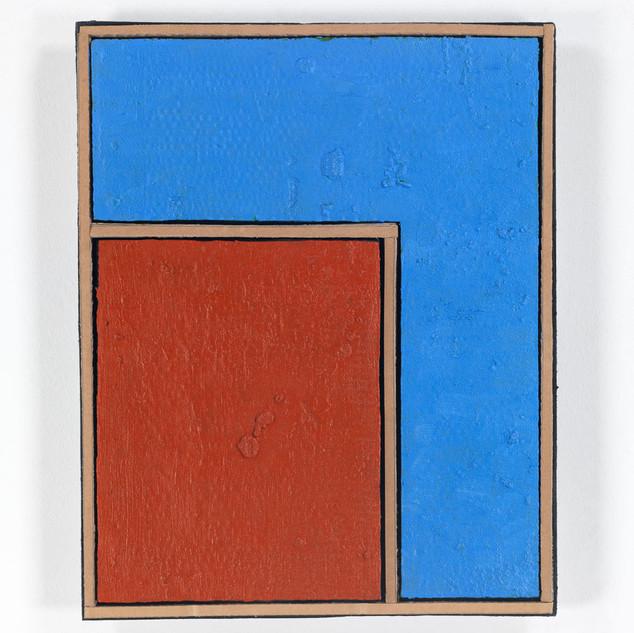 HAUSFLÄCHE, 2020  Acryl auf Pappe 63 x 50 x 6,3 cm rückseitig signiert und datiert