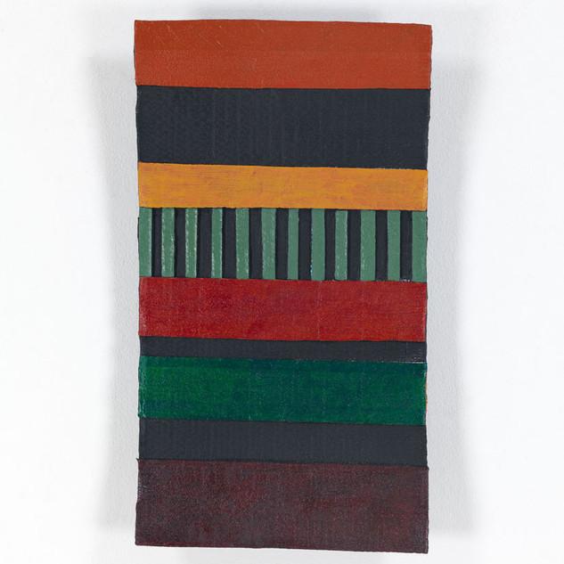 HOCHHAUS, 2020  Acryl auf Pappe 54 x 30 x 5,8 cm rückseitig signiert, datiert und betitelt