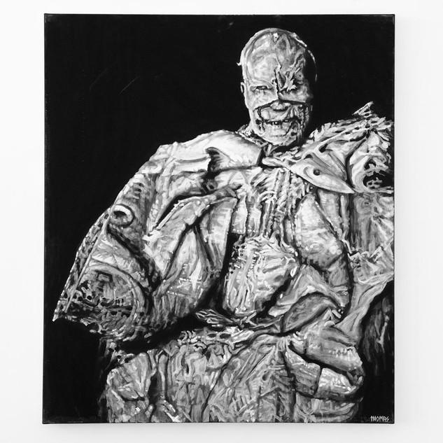 TEMPUTENSHIKI, 2017  black & white Acrylic on Canvas  Ca 140 x 120 cm signed