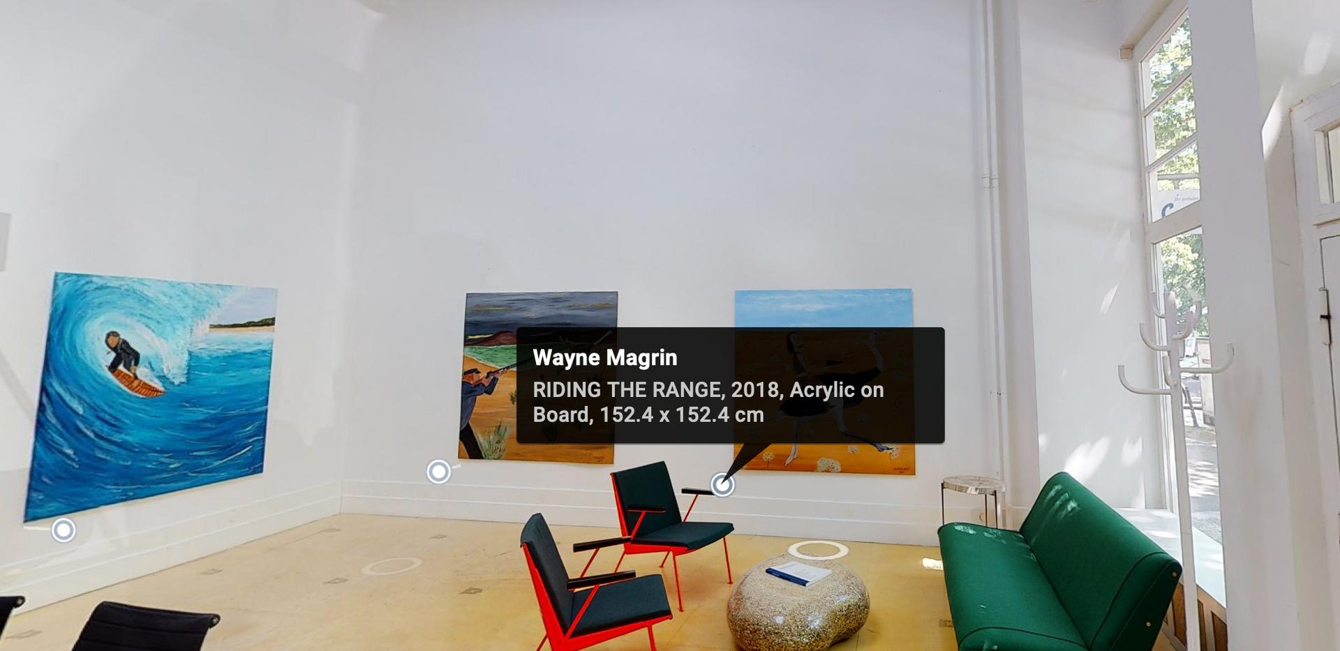 virtual Tour  Wayne Magrin exhibition @Office Reiner Opoku
