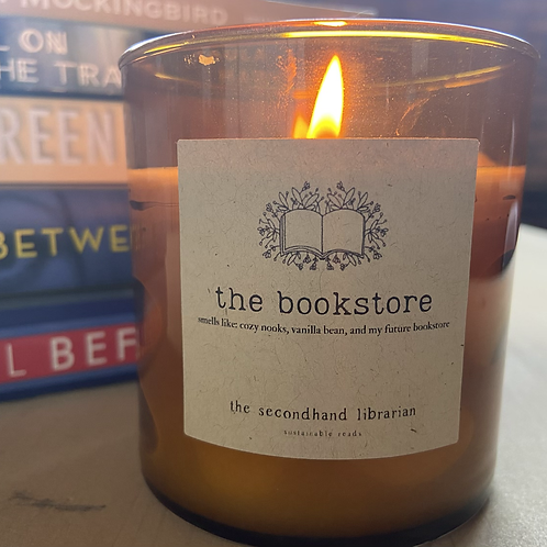 the bookstore candle
