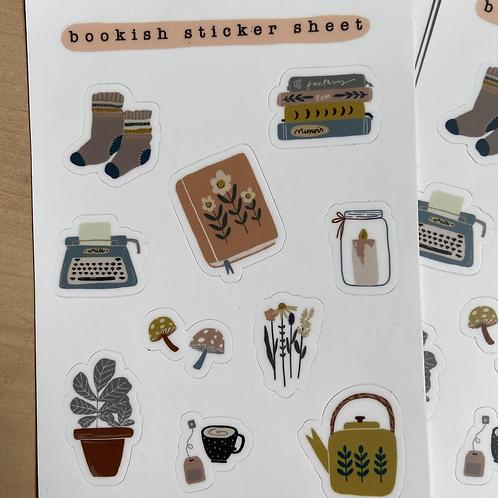 Bookish Sticker Sheet