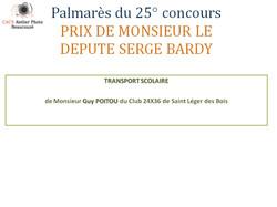 Palmarès du 25° concours Prix Député
