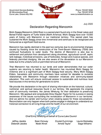 Curve Lake First Nation Declation