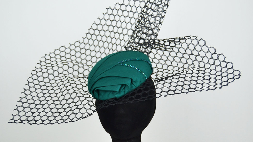 Emerald inspired headpiece