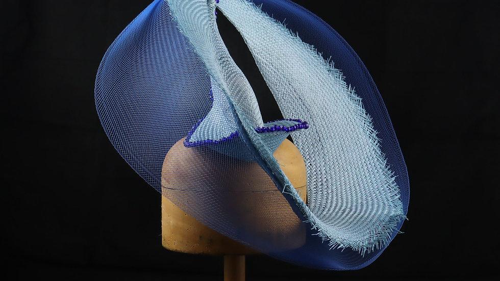 Monochrome Blue Headpiece