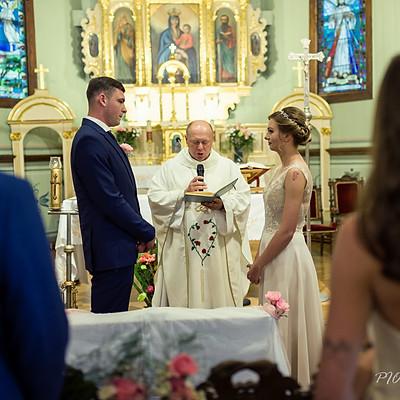 Ślub i przyjęcie weselne Moniki i Mateusza