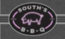 souths bbq label logo