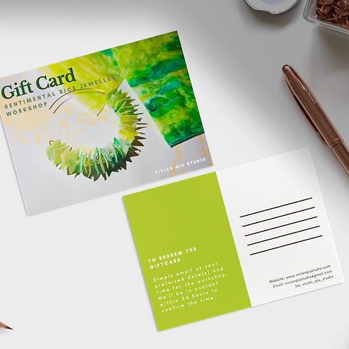 Gift Card (Sentimental Rice Jewellery Workshop)