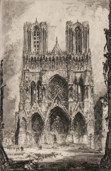 Reims Cathedral Entrance