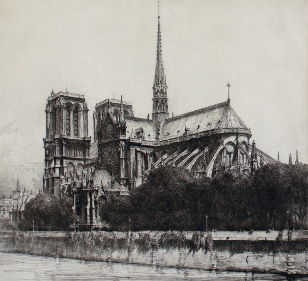 Notre Dame Cathedral, 1918