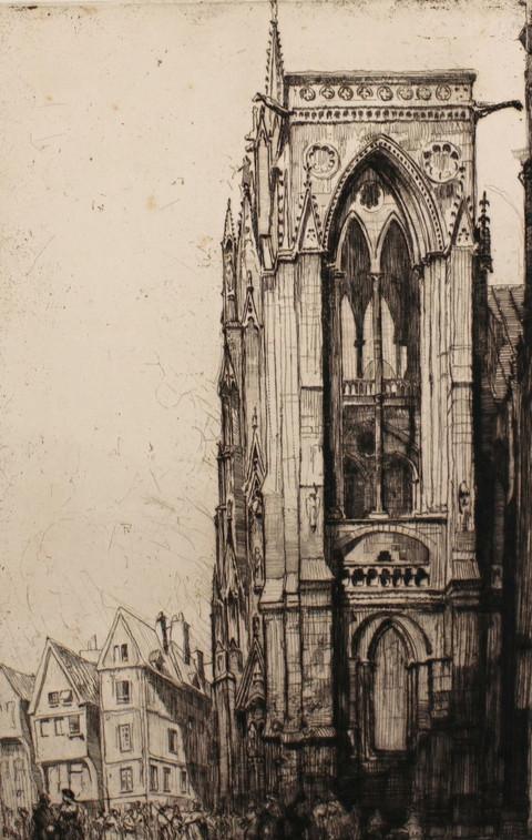 Cathedral Church at Rouen, 1912