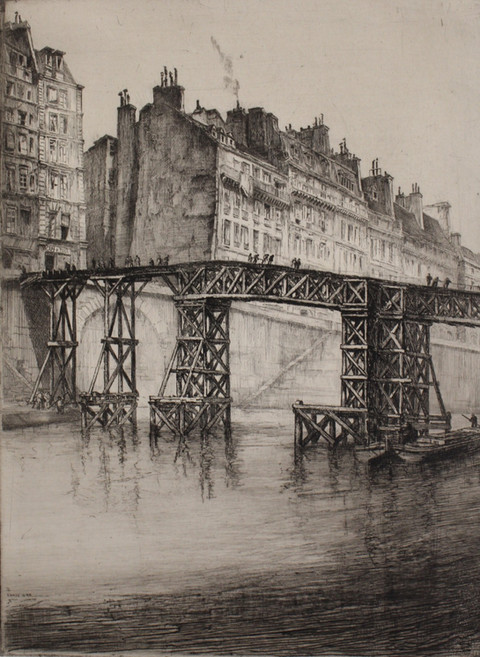 Temporary Footbridge over la Seine, 1925