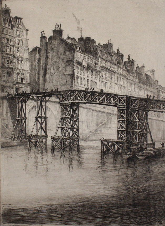 Temporary Footbridge over la Seine, 1925