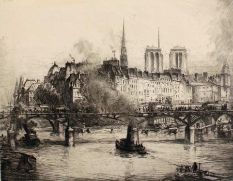 La Cite behind Pont des Arts, 1912
