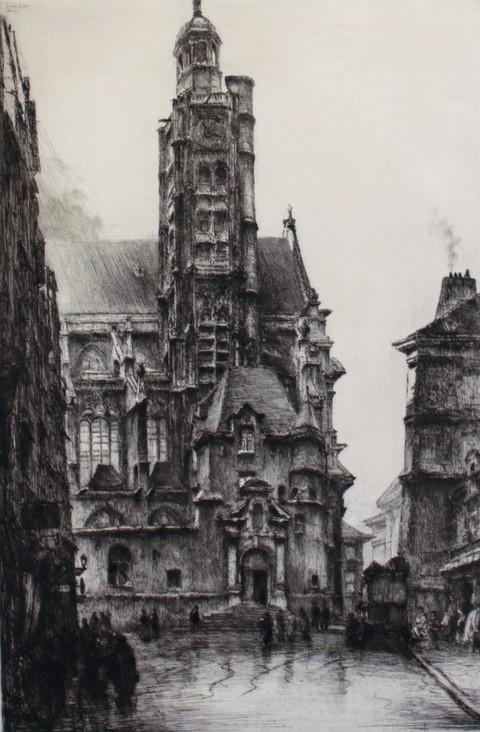 Saint Etienne du Mont Church, 1916