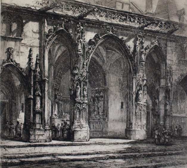 Saint Germain l'Auxerrois Church, 1912