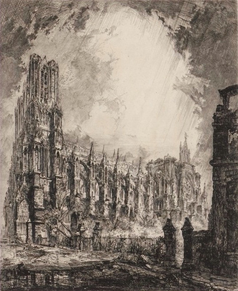 Reims Cathedral, France, in 1917