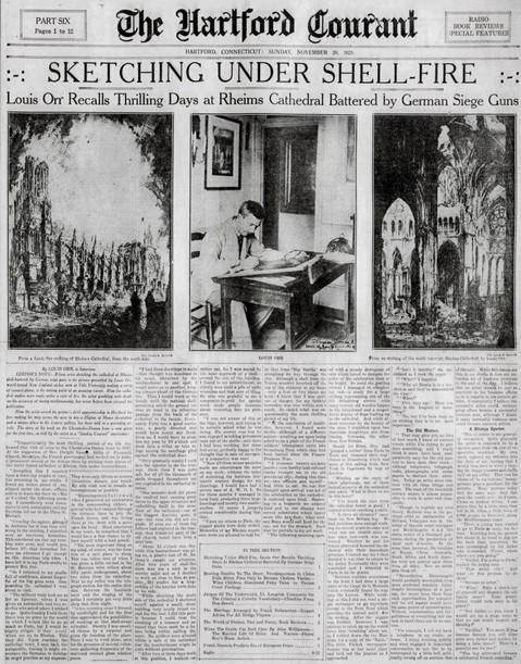 Hartford Article on Louis Orr, 1925