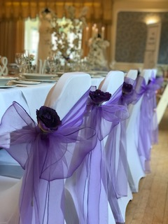 Sunning Violet Organza with an added rose