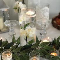 Trio Lace Trimmed Vases