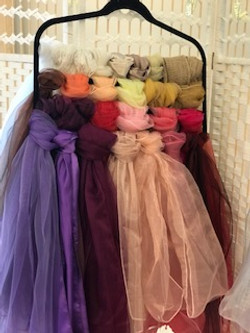 Selection of different coloured sashes