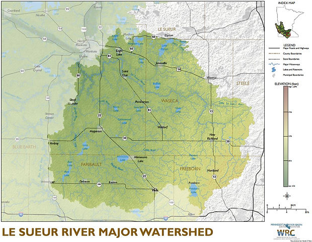 Le Sueur River Watershed Overview Map
