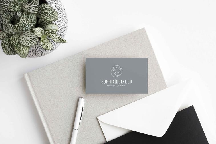 Corporate Design // Terminkarte // Sophia Deixler Massage Fachinstitut
