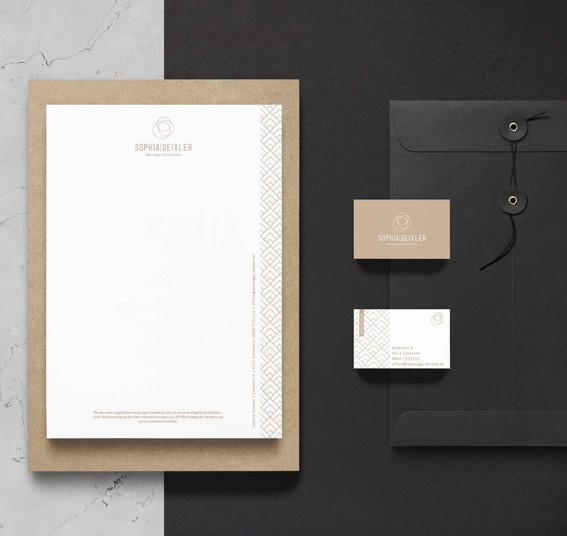 Corporate Design // Sophia Deixler Massage Fachinstitut