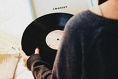 Woman with Vinyl