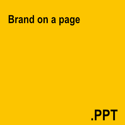Brand on a page