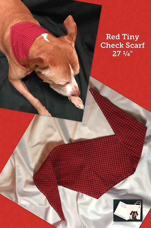 Red Tiny Check Scarf