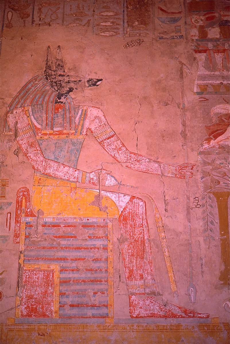 Anubis in Temple of Hatshepsut