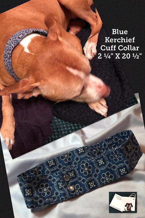 Blue Kerchief Cuff Collar