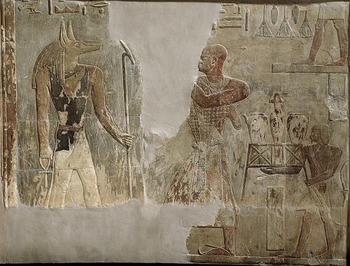 Relief of Mentu-em-hat and Anubis