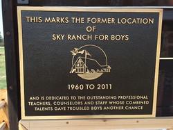 6 Sky Ranch Plaque