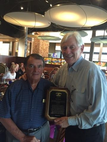 SRBS honoring Mike Donohoe for his continued service as part of the Sky Ranch Foundation