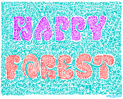 Electric Forest Official KPac Kreations Poster