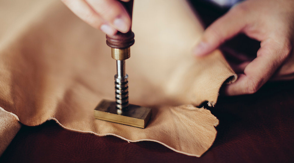 FEM hancrafted leather stamp