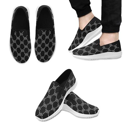 Rivera Royale Bevel on Black Orion Slip-on Men's Canvas Sneakers