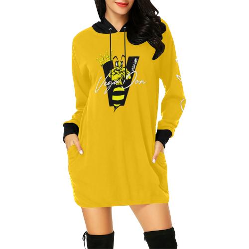 Vega Don Signature Yellow Hoodie Mini Dress