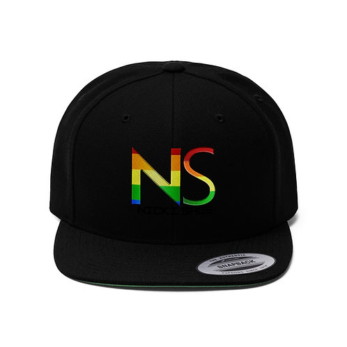 Nicki Sage Rainbow Unisex Flat Bill Hat