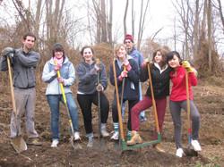 Shovel crew posing, at Weaver's Way Farm.JPG