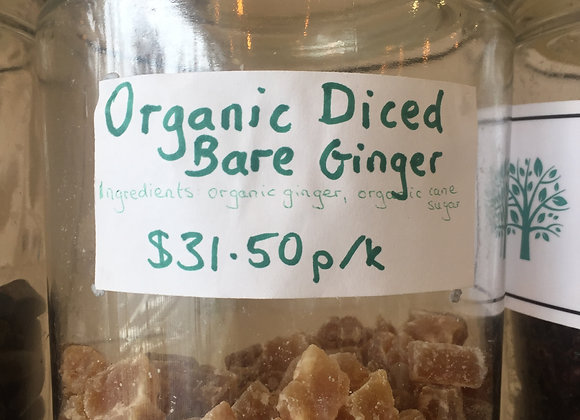 Diced Bare Ginger