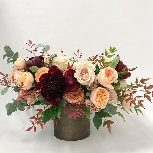 Fall Peach Roses + Peonies